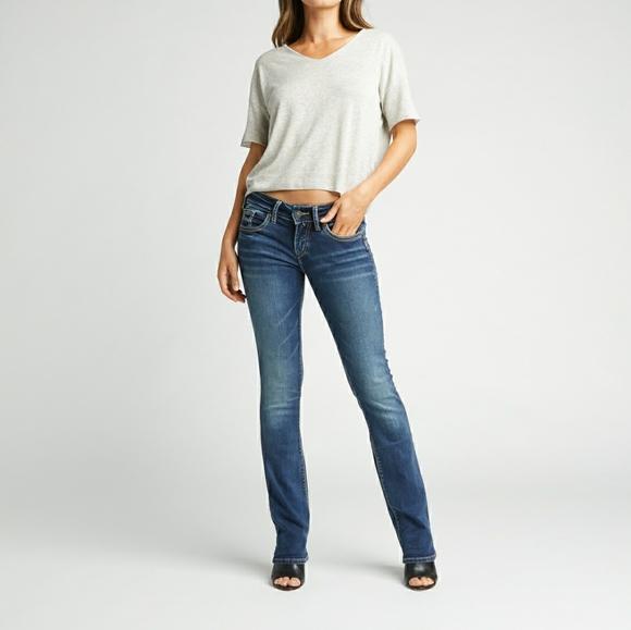 Silver Jeans Mid Slim Bootcut Flare Boho Western